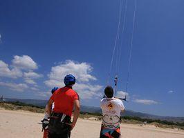 Premier niveau du cours de kitesurf, kite zone tarifa