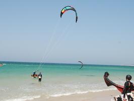 Zone d'école de kitesurf Tarifa en été