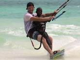Tandem kitesurf dés 4 ans d´âge jusqu à 60 kilos par personnes